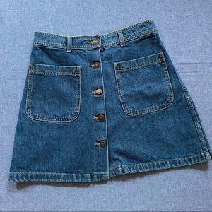 70s Jean Mini Skirt - ZARA